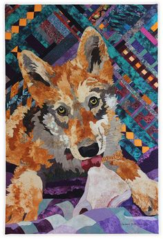 Tiger Eyes by Barbara Yates Beasley.  Front Range Contemporary Quilters 2014 portfolio.