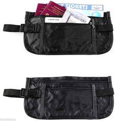 Security Waist Money Belt Travel Pouch Bum Bag Passport Money Cash Credit Cards…