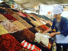 Farbenfrohes #kirgistan Der Markt in #bishkek ist ein Besuch wert!  #market