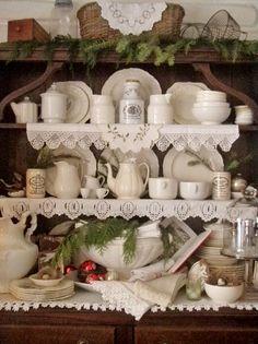 . . . Cabin & Cottage : The Old Welsh Dresser at Christmas