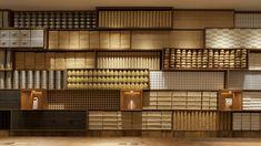 Internationaly based interior design firm Super Potato's official home page. Shelving Design, Shelf Design, Display Design, Store Design, Wall Design, Restaurant Lounge, Restaurant Design, Commercial Design, Commercial Interiors