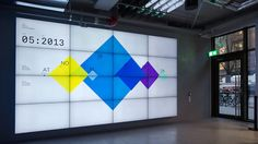 Klarna Data Wall - real-time data visualization by Onformative / 2014 Info Board, Information Design, Information Graphics, Digital Signage, Digital Wall, Interactive Installation, Interactive Design, Event Branding, Corporate Interiors