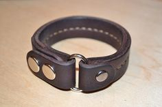 Leather Braceletmen bracelethandmade Dark Brawn by sergklim