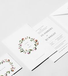Wildflower Wreath Invitation Suite — Venamour