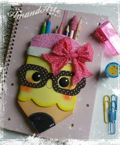 Kids Crafts, Foam Crafts, Diy And Crafts, Craft Projects, Projects To Try, Arts And Crafts, Paper Crafts, Scrapbook Cover, Decorate Notebook