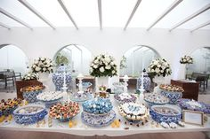 wedding reception inspired in portuguese tiles