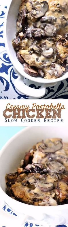 Healthy Crockpot Recipes to Make and Freeze Ahead - Slow Cooker Creamy Portobella Chicken - Easy and Quick Dinners, Soups, Sides You Make Put In The Freezer for Simple Last Minute Cooking - Low Fat Chicken, Veggies, Stews, Vegetable Sides and Beef Meals for Your Slow Cooker and Crock Pot http://diyjoy.com/healthy-crockpot-recipes