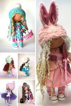 Rabbit doll Fabric doll tilda doll handmade by AnnKirillartPlace