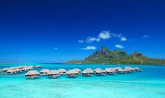 The South Pacific is the home of romance, with its crystal clear waters, secluded beaches, overwater bungalows and amazing coral reefs.  Tahiti, Bora Bora, Moorea, Fiji