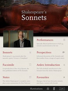 Great audio resource for teaching Shakespeare's sonnets.