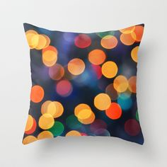 Festive Lights Throw Pillow by Lisa Argyropoulos - $20.00
