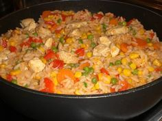 Französische Reispfanne Vegetarian Fried Rice, Healthy Drinks, Bon Appetit, Food And Drink, Low Carb, Lunch, Dishes, Vegetables, Cooking