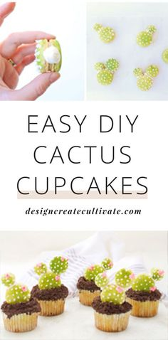 Want a step-by-step tutorial for how to make DIY Cactus Cupcakes? This cupcake recipe is perfect for a trendy bridal shower or baby shower menu...click for tutorial >>>