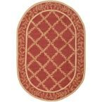 Chelsea Rust/Gold (Red/Gold) 7 ft. 6 in. x 9 ft. 6 in. Oval Area Rug
