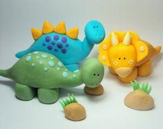 Triceratops de la torta para fiestas de por SweetTouchDecor en Etsy