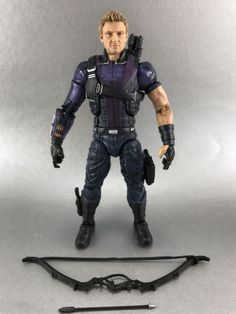 Hawkeye (Civil War MCU) custom action figure from the Marvel Legends series using Winter Soldier MCU as the base, created by Customs by Matchu. Deadpool Action Figure, Comic Room, Marvel Legends Series, Custom Action Figures, Sideshow Collectibles, Hawkeye, Winter Soldier, Marvel Movies, Marvel Avengers