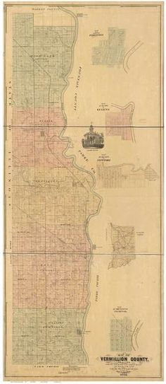24x36 Vintage Reproduction Historic Map Chicago Illinois Cook County 1898