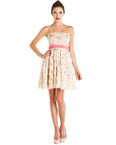 RED Valentino Beige Floral Print Ruffle Dress  #Dress #Tie #