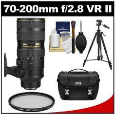 Nikon 70-200mm f/2.8G VR II AF-S ED-IF Zoom-Nikkor Lens with Nikon Case + Hoya UV Filter + Tripod + Cleaning Kit for D3100, D3200, D5100, D5200, D7000, D7100, D600, D800, D4 Digital SLR Cameras Reviews - http://slrscameras.everythingreviews.net/7933/nikon-70-200mm-f2-8g-vr-ii-af-s-ed-if-zoom-nikkor-lens-with-nikon-case-hoya-uv-filter-tripod-cleaning-kit-for-d3100-d3200-d5100-d5200-d7000-d7100-d600-d800-d4-digital-slr-cameras-review.html