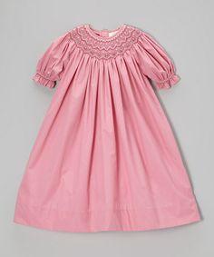 Look what I found on #zulily! Rose Floral Bishop Dress - Toddler & Girls #zulilyfinds