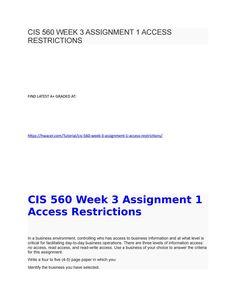 hsa 525 homework week 3