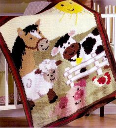 Crochet Pattern PDF for Baby Blanket par HeirloomKnitPatterns
