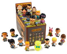 Kidrobot has partnered with Fox and Loren Bouchard on a series of art toys, action figures, and collectibles based on the hit animated TV show Bobs Burgers. This collection of collectible vinyl figures and Bobs Burgers Toys include your favorite. Louis Belcher, Bobs Burgers Characters, Vinyl Figures, Action Figures, Bob S, Vinyl Toys, Custom Vinyl, Designer Toys, Pop Vinyl