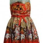 Jottum Kleid SORVILLA in rot/bunt in Gr. 98 für Mädchen Kinderkleidung Mädchen