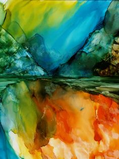 Alcohol inks alcohol ink painting original by InksAliveStudio