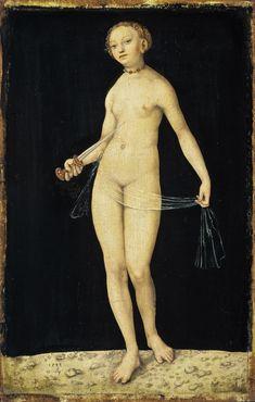 """Lucas Cranach the Elder, """"Lucretia,"""" 1533. Oil on beechwood, 14 2/3 x 9 2/5 in. (37.3 x 23.9 cm) © Staatliche Museen zu Berlin, Gemäldegalerie / Volker-H. Schneider"""