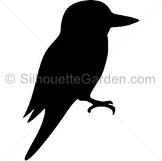 Kookaburra silhouette clip art. Download free versions of the image in EPS, JPG, PDF, PNG, and SVG formats at http://silhouettegarden.com/download/kookaburra-silhouette/