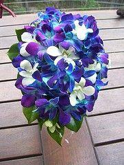 Blue Bridal Bouquets: All Orchids