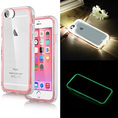iPhone 6 Case,ULAK [Lumenair Series] LED Case iPhone 6 (4.7) Incoming Call Flash Hybrid Case Cover with (Transparent+White) PC Hard Back Case + Luminous Soft Bumper Frame Case For iPhone 6 (4.7 inch) (Pink) ULAK http://smile.amazon.com/dp/B00RG7YZT2/ref=cm_sw_r_pi_dp_XDYUub033YP5R