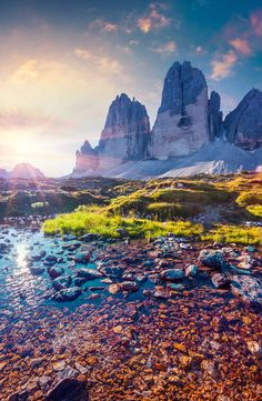 We can't stop wanderlusting over this summer sunrise on the lake Rienza in National Park Tre Cime di Lavaredo. We love our home in the Dolomites! Nature Pictures, Cool Pictures, Wanderlust, Nature Photography, Travel Photography, Digital Photography, Nature Wallpaper, Best Photographers, Landscape Photos