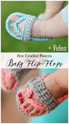 Crochet Baby Flip Flops - Free Crochet Pattern - New Craft Works Baby Girl Patterns, Baby Shoes Pattern, Baby Knitting Patterns, Crochet Patterns, Crochet Baby Sandals, Baby Girl Crochet, Crochet Shoes, Crochet Baby Dresses, Crochet Clothes