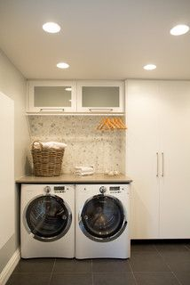 Garage Laundry Design Ideas, Pictures, Remodel and Decor Garage Laundry, Tiny Laundry Rooms, Laundry Room Shelves, Laundry Room Cabinets, Laundry Room Organization, Laundry Storage, Smelly Laundry, Diy Cabinets, Ikea Laundry