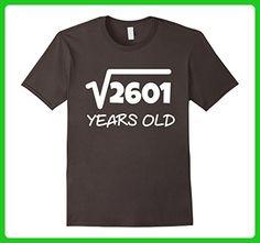 Mens Square Root of 2601: 51st Birthday 51 Years Old T-Shirt 2XL Asphalt - Birthday shirts (*Amazon Partner-Link)
