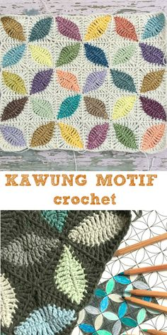 Create the most beautiful projects with this crochet Kawung motif! Modern Crochet Blanket, Crochet Squares Afghan, Crochet Blocks, Love Crochet, Crochet Yarn, Crochet Stitches, Crochet Granny, Crochet Pillow Cases, Crochet Cushions