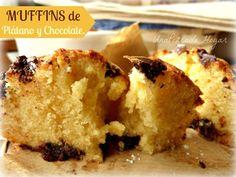 Muffins de Plátano y Chocolate.
