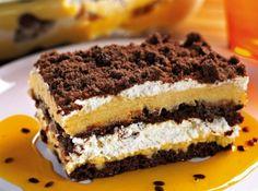 Pavê de Maracujá com Cookies de Chocolate