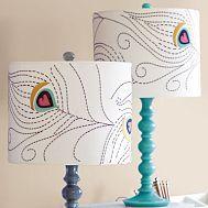 Beachnut Lane: Drum shade lamp for a teen's room