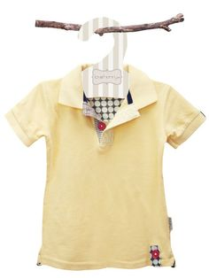 William Yellow Polo T-Shirt - Baby Boy Tops - Boys - Little Chickie