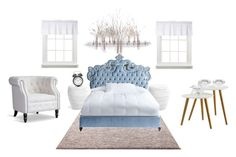 """Elsa's bedroom"" by seahorse1243 on Polyvore featuring interior, interiors, interior design, home, home decor, interior decorating, ESPRIT, Home Decorators Collection, Haute House and Baxton Studio"