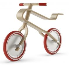 Brum Brum wooden balance bike for kids, unique example of functional eco-design.