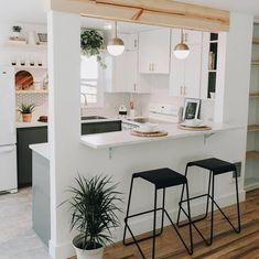 Trendy Home Dco Kitchen Layout Simple Kitchen Design, Kitchen Room Design, Contemporary Kitchen Design, Kitchen Sets, Kitchen Layout, Home Decor Kitchen, Kitchen Interior, Home Kitchens, Diy Kitchen