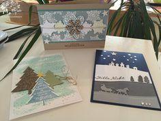 Weihnachtskarten mit Produktsets von Stampin' Up!
