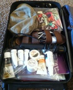 How to pack all your stuff in one carry on bag! So smart.