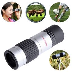 21mm 15-55x Zoom Compact Adjustable Monocular Telescope For Hiking Outdoors