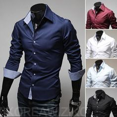 Gender: Men Item Type: Shirts Pattern Type: Solid Sleeve Style: Regular Style: fashion Closure Type: Single Breasted Fabric Type: Broadcloth Material: Cotton Collar: Turn-down Collar Sleeve Length: Fu