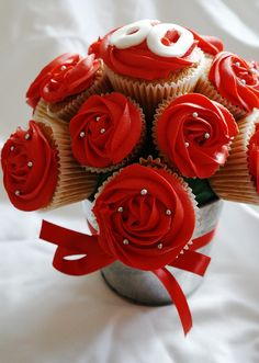 60th Birthday Cupcake Bouquet by There for the Baking, via Flickr
